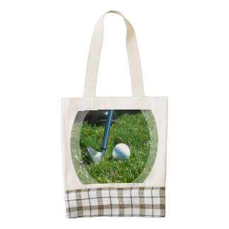 Putt del golf bolsa tote zazzle HEART