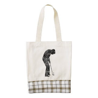Putt del golf del vintage bolsa tote zazzle HEART
