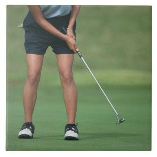 Putt (golf) azulejo cuadrado grande
