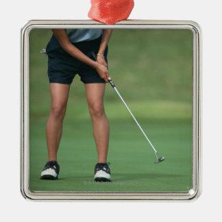 Putt (Golf) Metal Ornament