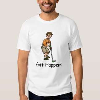 Putt Happens Funny Men's Golf T-Shirt