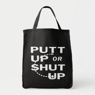 Putt para arriba bolsa tela para la compra