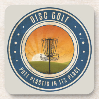 Putt Plastic In Its Place #11 Drink Coasters