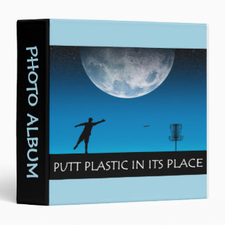 Putt Plastic In Its Place 3 Ring Binder