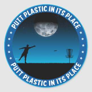 Putt Plastic In Its Place #8 Stickers