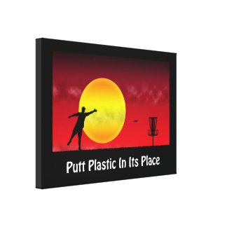 Putt Plastic In Its Place Canvas Print