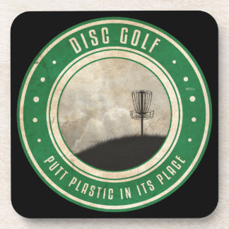Putt Plastic In Its Place Drink Coaster
