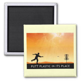 Putt Plastic In Its Place Fridge Magnets