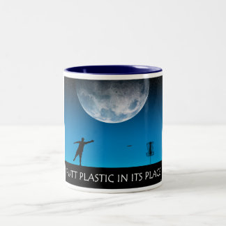 Putt Plastic In Its Place Two-Tone Coffee Mug