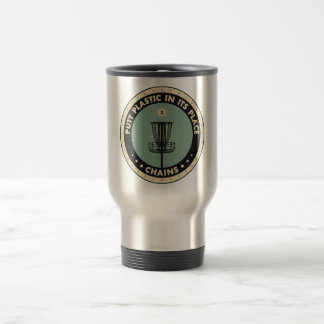 Putt Plastic In Its Place 15 Oz Stainless Steel Travel Mug