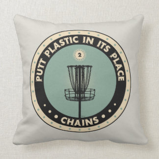 Putt Plastic In Its Place Throw Pillows