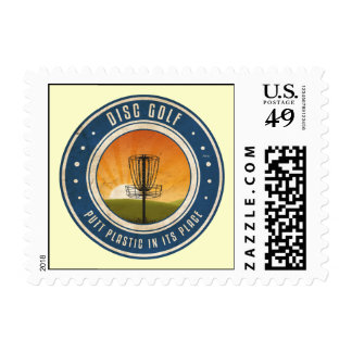 Putt Plastic In Its Place Postage Stamps