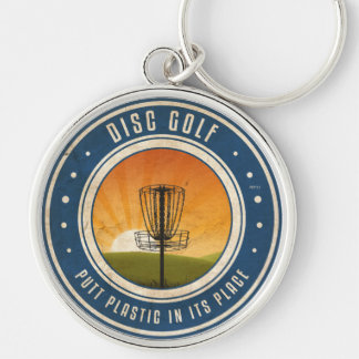 Putt Plastic In Its Place Silver-Colored Round Keychain
