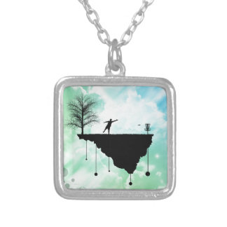 Putt Plastic In Its Place Square Pendant Necklace