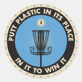 Putt Plastic In Its Place Round Sticker