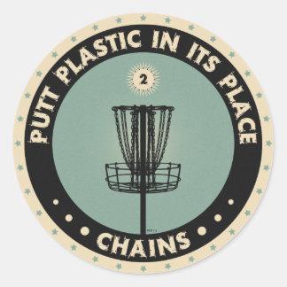 Putt Plastic In Its Place Sticker