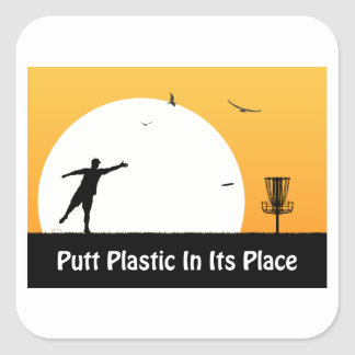 Putt Plastic In Its Place Stickers