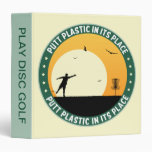 Putt Plastic In Its Place Vinyl Binder