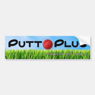 Putt Plug bumper sticker