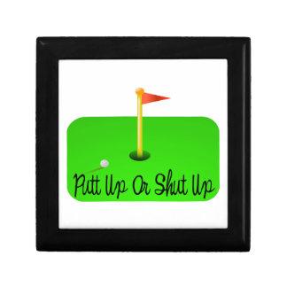 Putt Up Or Shut Up Golf Jewelry Box