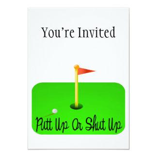 Putt Up Or Shut Up Golf Announcements