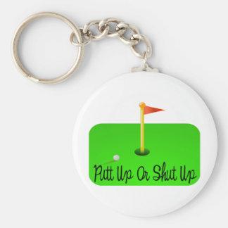 Putt Up Or Shut Up Golf Keychain