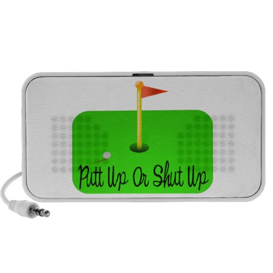 Putt Up Or Shut Up Golf Mini Speaker