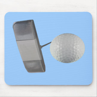 Putter and Golf Ball Mouse Pad