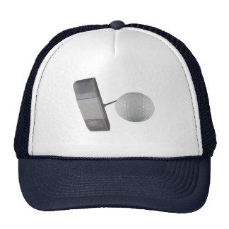 Putter and Golf Ball Trucker Hat