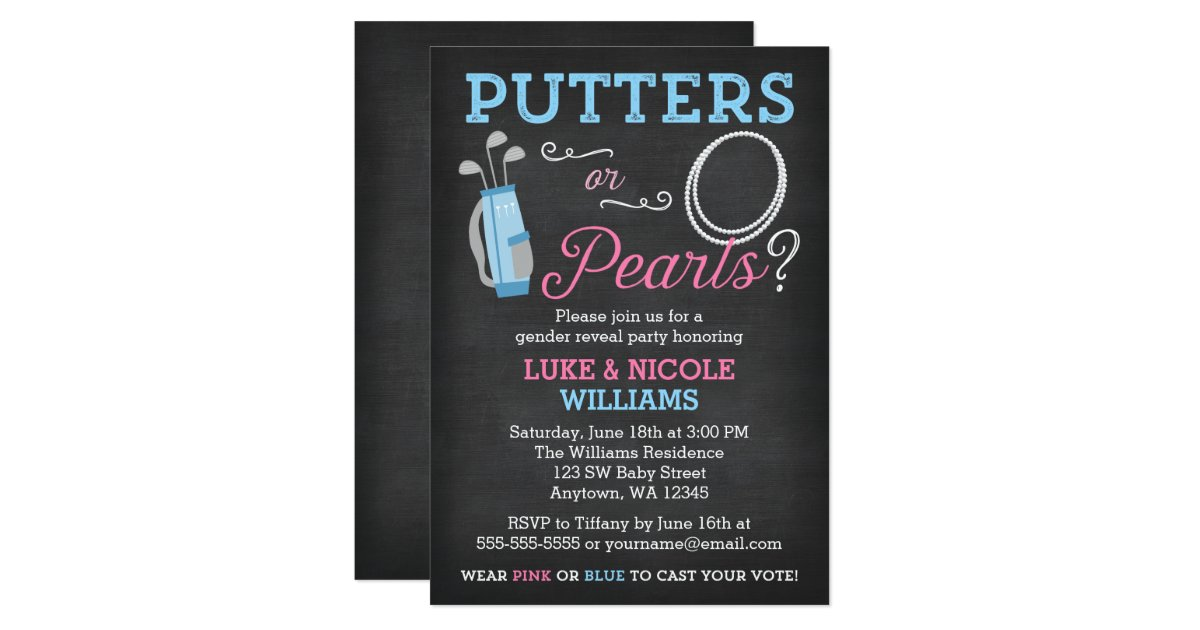 Gender Reveal Party Invitations – Make My Own Party Invitations