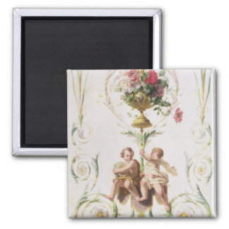Putti amid swags of flowers and leaves magnet