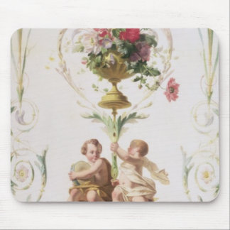 Putti amid swags of flowers and leaves mouse pad