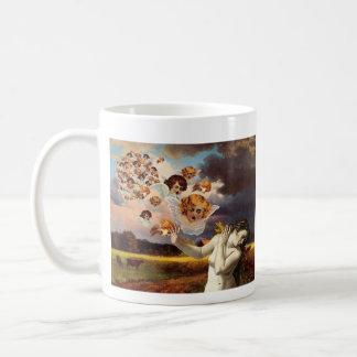 Putti attack coffee mug