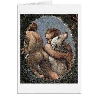 Putti By Antonio Allegri Da Correggio Greeting Card