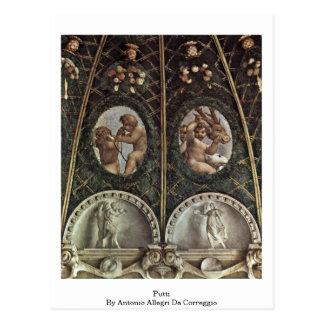 Putti By Antonio Allegri Da Correggio Post Cards