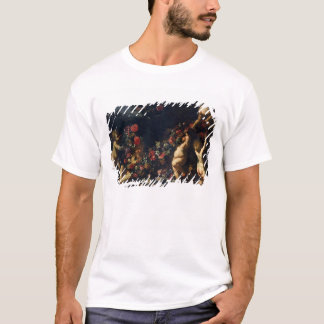 Putti Playing with Garlands of Flowers T-Shirt