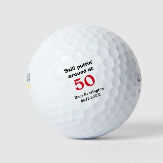 Puttin Around 50 Birthday Personalized Golf Balls Zazzle Com