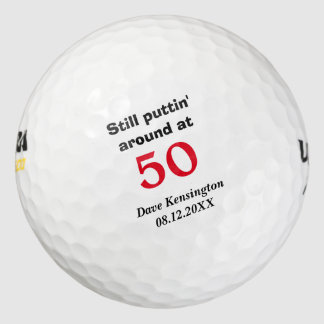Puttin' Around 50 Birthday Personalized Golf Balls