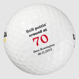 Puttin' Around 70 Birthday Personalized Golf Balls