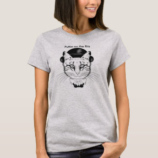Puttin on the Ritz Cat in Top Hat Women's  T-Shirt