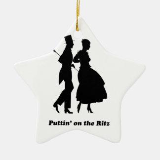 Puttin' on the Ritz Ceramic Ornament
