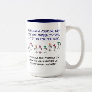 PUTTING A COSTUME ON FOR HALLOWEEN IS FUN...mug.
