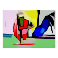Putting - Abstract Golf Art On Canvas Poster