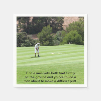 Putting For Par Disposable Napkin
