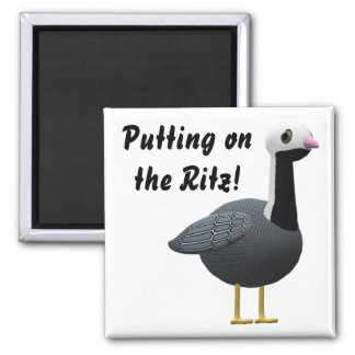 Putting on the Ritz! 2 Inch Square Magnet