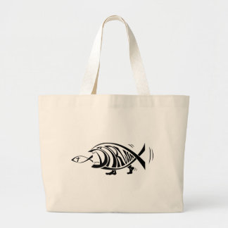 Putting the Win in Darwin (by sethness@deviantart) Large Tote Bag