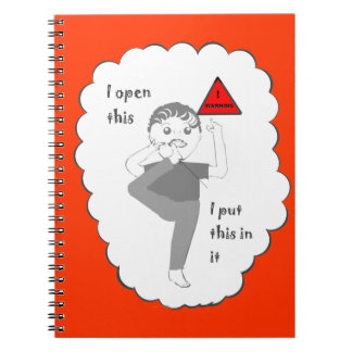 Putting your foot in mouth joke products notebooks