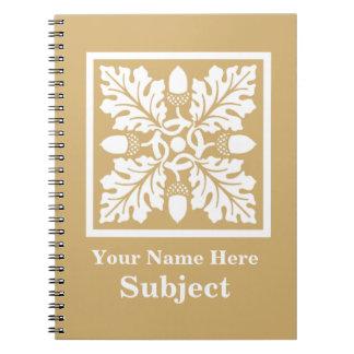 Putty Acorn and Leaf Tile Design Notebook