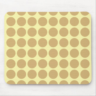 Putty Cream Neutral Dots Mouse Pad