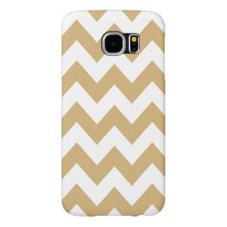 Putty Neutral Chevrons Samsung Galaxy S6 Case